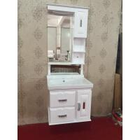Cheap Luxury Hung PVC Bathroom Cabinet / Single Bowl Bathroom Vanities for sale