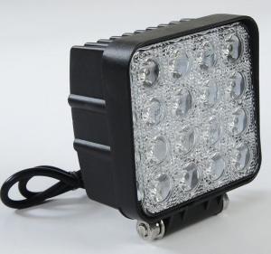 Cheap Square LED Truck Work Lights , 48 Watt LED Auto Car Head Lights 4*4 LEDs IP 67 for sale
