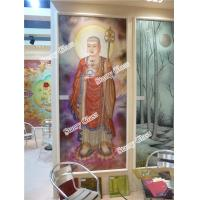 Cheap Decorative Glass Partition Wall -- Buddha Painting for sale