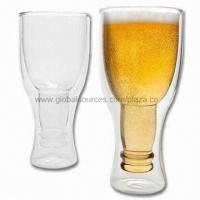 Cheap Double-wall Mouth-blown Beer Glass for Daily Use, Hot/Cold Drinks for sale