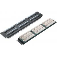 Cheap UTP 48 Port Patch Panel 2U AMP Type Cat5e Patch Panels for Computer Center YH4015 for sale