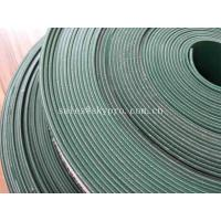 Cheap Food Grade PVC Cleat 4mm Flat Rubber Conveyor Belting Durable Straight Grain for sale