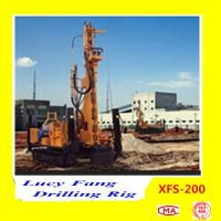 Cheap China Hot Multi-function XFS-200 Mobile Hydraulic Foundation CFA Earth Auger Drilling Rig for sale
