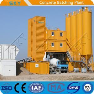 Cheap Small Size HZS120 Mobile Concrete Batching Plant for sale