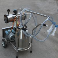 Single Bucket Portable Vacuum Pump Milking Machine With 250 l / Min Vacuum Pump Capacity Manufactures