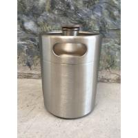 Quality 2L Mini keg growler stainless steel food grade material Beer growler with tap wholesale