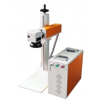 Cheap FDA Certification 220V Split Fiber Laser Marking Machine With Rotation Axis for sale