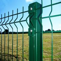 Buy cheap Folding Curved PVC Coated Steel Wire Fencing , Heavy Gauge Wire Fence Panels For School from wholesalers