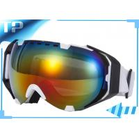 Cheap Small men Anti Fog Custom Snow Goggles Light weight For Outdoor Sport for sale