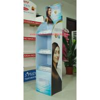 Cheap Promotional corrugated floor displays for Shampoo , Haircare store display racks supermarket for sale