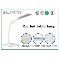 Cheap Double color temperature adjust battery LED Table Lamp with flexible arm can be light different angle for sale
