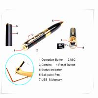 Cheap mini pen hidden micro camera mini dv dvr video camera  spy camera pen for sale