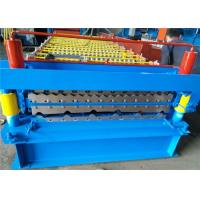 Cheap Roofing Sheet Double Layer Roll Forming Machine , Profile Forming Machine Low Noise for sale