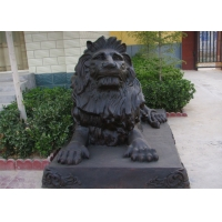 Cheap Custom Cast Metal Antique Bronze Sitting Lion Statue for Outdoor for sale