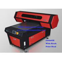 High Precision 3D Digital Flatbed UV Printer With UV LED Lamp Manufactures