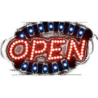 Cheap advertising board by Led open sign for sale