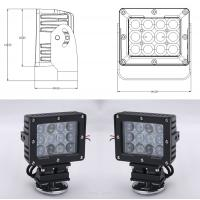 Cheap 60W Square Vehicle LED High Power Driving Lights , 6500K 4800 Lumen 12 Volt Led Work Lights for sale