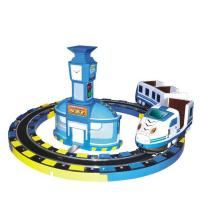 Buy cheap Coin Operated Kiddie Ride Machines Szf Intercity Train Rail FRP + Metal Material from wholesalers