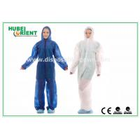 Cheap Hooded Disposable Protective Coverall With Elastic Wrist / Ankle / Waist,with feetcover or without feetcover for sale