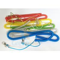 Cheap Steel Wire Core Spiral Fishing Pole Leash for sale