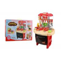 Cheap Red Color Pretend Play Childrens Toy Kitchen Sets With Sound And Light 62CM for sale
