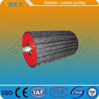 Cheap Coal Mining Rubber Coated 25mm Conveyor Drum Pulley for sale