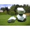 Stainless Steel Garden Sculptures Sandblasting Square Decoration for sale