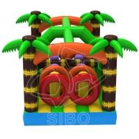 Quality Popular PVC Tarpaulin Inflatable Bouncer For Kids With Inflatable Obstacle wholesale