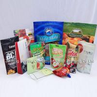 Buy cheap Custom Color Printed Food Packaging Plastic Bags, Stand Up And Zipper Food Bags from wholesalers