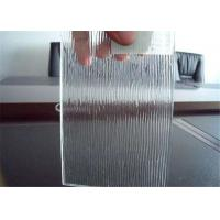 Cheap Colored / Clear Patterned Glass , 3mm - 6mm Thickness Rain Pattern Glass for sale