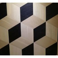 Cheap oak parquet tiles, artistic parquets, black & white stained, 3D showing for sale