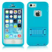 Cheap Blue Cell Phone Cases Defender Shockproof Cover Shell Stand Holder For iphone 5s for sale