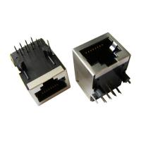 Cheap Tab Down RJ45 Connector Port , RJ45 Pass Through Connector Modular Jack for sale