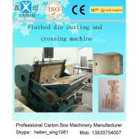Cheap Corrugated Cardboard Manual Flat Creasing And Die-Cutting Machine 5.5kw / 7.5kw for sale