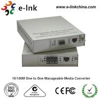Cheap E-link 10 / 100M One to One Manageable Fast Ethernet Media Converter with Internal Power Supply for sale