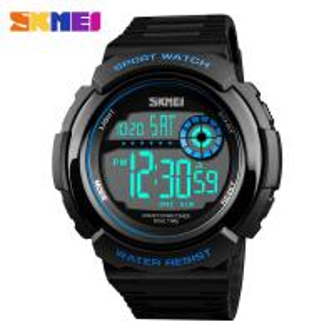 China Multifunction Men Sports Wrist Watch Skmei Digital Chronograph Clock Outdoor Waterproof Military Electronic  led light w on sale