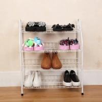 Cheap H270 Durable Steel Metal Mesh Shoe Rack Quick And Easy Assembly White Color for sale