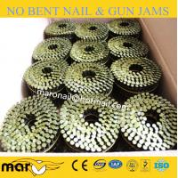 China coated threaded coil nails for nailer price on sale