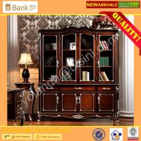 (BK0109-0007)Antique Royal  Neo-classic Office Bookcase /Hand Carved Bookshelf/Italian Design Gorgeous Wooden Cabinet Manufactures
