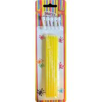 Cheap Skinny Dessert Glittering Birthday Party Candles Yellow Cupcake Collection 26.2g for sale