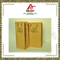 Cheap Promotional Kraft Paper Carrier Shopping Bags With Twisted Paper Handle for sale