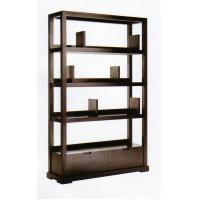 Modern Hotel Lobby Furniture Solid Wood Commodity Shelf  Partition Wall Walnut  Veneer