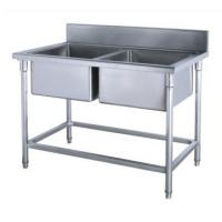 Cheap Commercial Kirchen Stainless Steel Inlet And Outlet Bench  With Double Sink  Bowl  Assembling Sink Table for sale