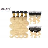 Buy cheap Malaysian Hair Bundles 613 Ombre Blonde Bundles With Closure Body Wave Dark from wholesalers