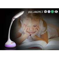 Cheap white colors battery LED Table Lamp with flexible arm and RGB colors living light for sale