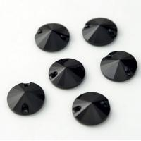 Cheap jet black sew on crystals and beads flat back rhinestone for clothing for sale