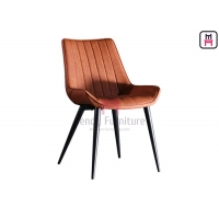Cheap Metal Leg PU Leather Upholstered Armless Dining Chair 0.38cbm for sale