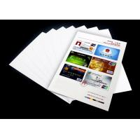 Buy cheap High resolution Smart Card making material , A4 pvc sheet 0.3mm / 0.38mm Thickness from wholesalers