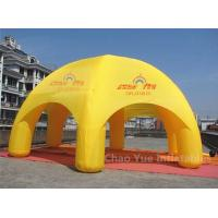 Cheap 20ft Yellow Inflatable Dome Canopy Tent for sporting events with CE blower for sale