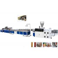 Cheap TPU / TPR / TPE PVC Plastic Profile Making Machine For Ceiling and Decking for sale